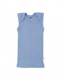 Baby Unterhemd aus natürlicher Baumwolle blau
