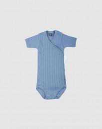 Wickelbody aus natürlicher Baumwolle für Babys blau