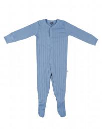Langarm Body mit Füßlingen aus Baumwolle blau