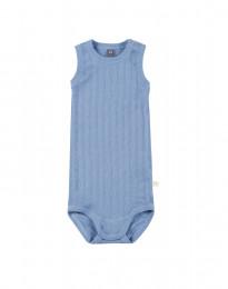 Baby Body ohne Arm aus natürlicher Baumwolle blau