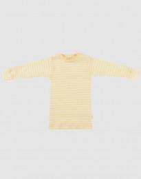 Langarmshirt für Babys aus Bio Wolle-Seide Hellgelb/Natur