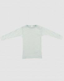 Baby Langarmshirt aus Bio Wolle-Seide pastellgrün meliert/natur