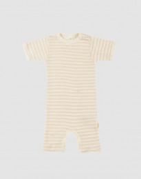 Sommeranzug für Babys aus Bio Wolle/Seide beige/natur