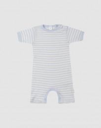 Sommer Body für Babys aus Wolle-Seide blau/natur