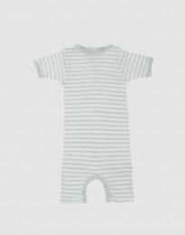 Sommeranzug für Babys aus Bio Wolle-Seide pastellgrün/ natur
