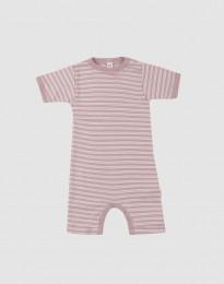 Sommeranzug für Babys aus Bio Wolle-Seide pastellrosa/ natur