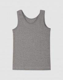 Bio Unterhemd für Kinder aus Baumwolle grau meliert
