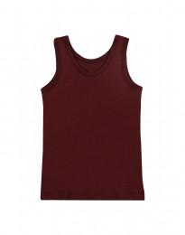 Bio Unterhemd für Kinder aus Baumwolle bordeauxrot