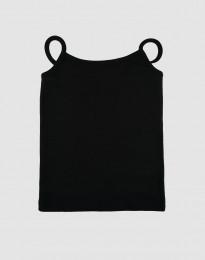 Baumwoll Top für Mädchen schwarz