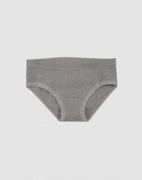Baumwoll Slip für Mädchen grau meliert