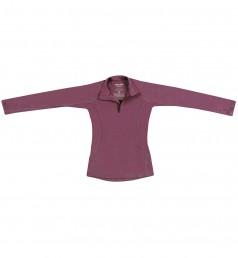 Kinder Pullover mit Reißverschluss aus Merinowolle lila