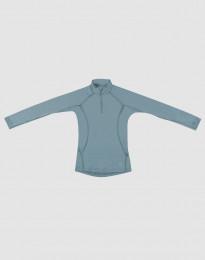 Kinder Shirt - exklusive Merinowolle mineralblau