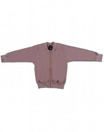 Jacke aus Woll-Frottee mit Reißverschluss rosé