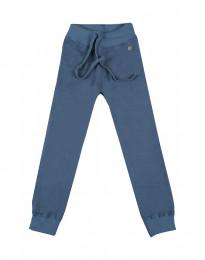 Kinderhose aus Wollfrottee taubenblau