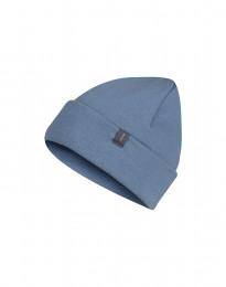 Mütze für Kinder aus Wollfrottee taubenblau