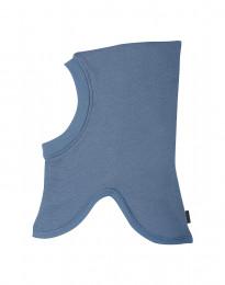 Schlupfmütze für Kinder aus Wollfrottee taubenblau