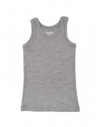 Merinowolle Unterhemd für Kinder grau melange