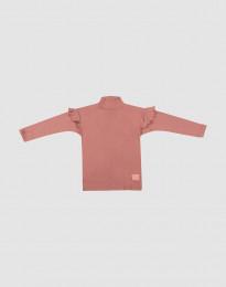 Kinder Shirt mit Rüschen Dunkelrosa