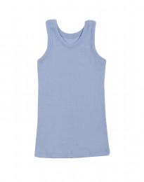 Kinder Unterhemd - Bio Merinowolle hellblau