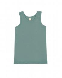 Kinder Unterhemd - Bio Merinowolle hellgrün