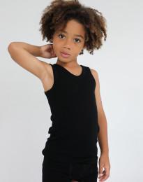 Kinder Unterhemd - BIO Merinowolle schwarz