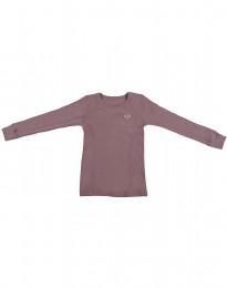 Kinder Shirt aus Bio Merinowolle rosé