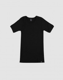 Kinder T-Shirt BIO Merinowolle schwarz