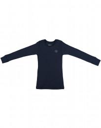 Kinder Shirt aus Bio Merinowolle navy