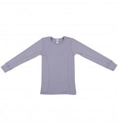 Kinder Shirt aus Bio Merinowolle flieder