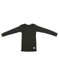 Kinder Shirt aus BIO Merinowolle dunkelgrün