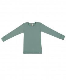 Kinder Shirt aus Bio Merinowolle hellgrün