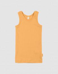 Kinderunterhemd in breitem Rippstrick Gelb