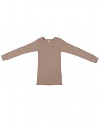 Kinder Shirt in breitem Rippstrick altrosa