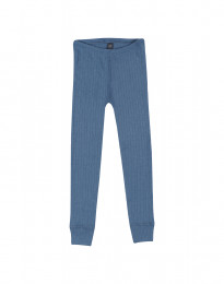 Kinder Leggings in breitem Rippstrick taubenblau