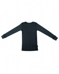 Kinder Shirt in breitem Wollstrick Dunkelpetrol