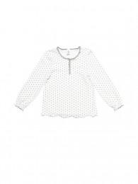 Mädchen Homewear Shirt gepunktet