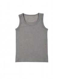 Unterhemd aus Baumwolle grau meliert