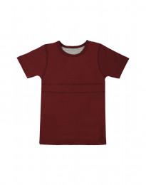 Weiches T-Shirt aus Baumwolle bordeauxrot