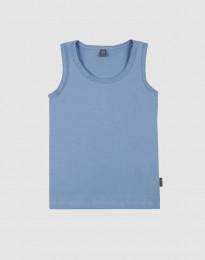 Unterhemd für Kinder aus Bio Baumwolle blau