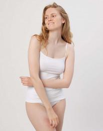 Baumwoll Top für Damen weiß