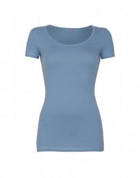 Baumwoll T-Shirt für Damen blau