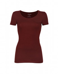 Damen Baumwoll t-shirt bordeauxrot