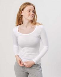 Langarmshirt für Damen weiß