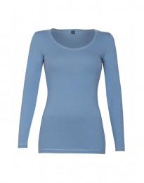 Langarmshirt für Damen aus Baumwolle blau