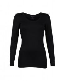 Langarm Shirt für Damen schwarz