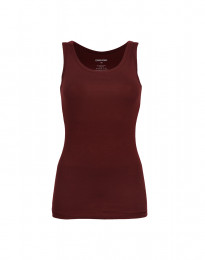 Baumwoll Tank Top Damen bordeauxrot