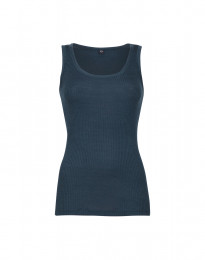 Damen Ripp Top Navy