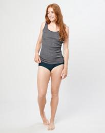 Merino Midi Slip für Damen Dunkelpetrol