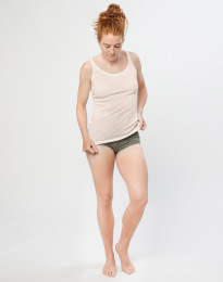 Merino Midi Slip für Damen Olivgrün