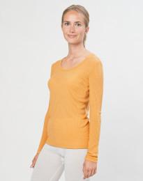 Merino Rippshirt für Damen gelb